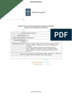 Dr Von Klitzing's protocol for diagnosing EHS