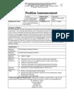 ELA School Improvement Specialist Job Announcement