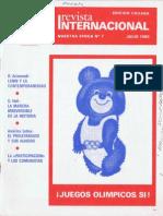 Revista Internacional - Nuestra Epoca N°7 - Edición Chilena - Julio 1980