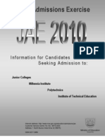 Joint Admissions Exercise