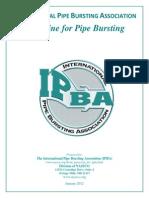 IPBA Guideline for Pipe Bursting Mainline