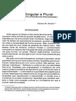 Mulher, Singular e Plural - PD