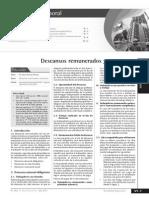 Descanso Remunerados y Vacaciones - Julio 2013 - Act. Empresarial