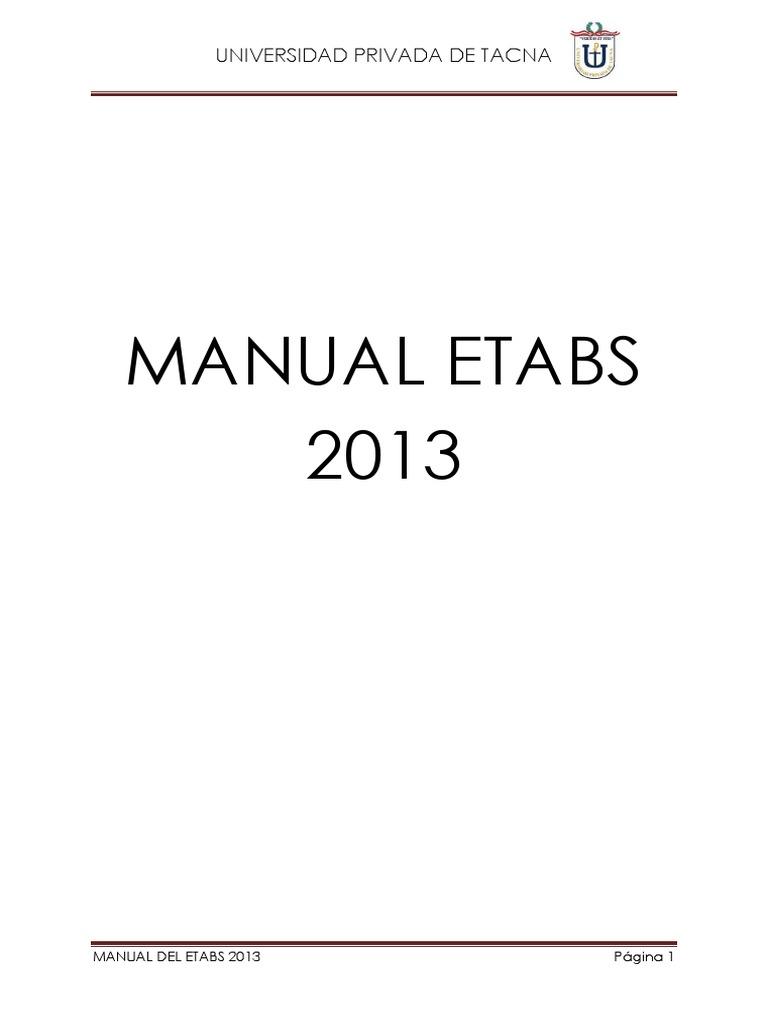Manual Etabs 2013 Plano1