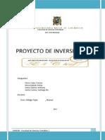 Proyecto de Inversion, Negocio Cocina