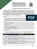 Calendário - _lista de Espera Ufpi 2º Semestre 2014