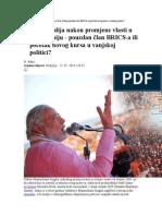 Analiza Indija Nakon Promjene Vlasti u New Delhiju Pouzdan Član BRICSa Ili Početak Novog Kursa u Vanjskoj Politici