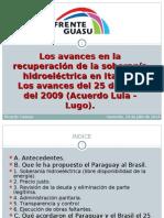 Los avances en la recuperación de la soberanía hidroeléctrica en Itaipú.