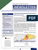 AOAC Food Allergen Community Summer Newsletter 2014