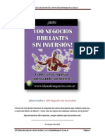 100 Negocios Brillantes Sin Inversion