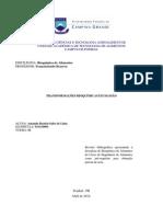 Revisão Bibliográfica - Transformações Bioquímicas - Mamão