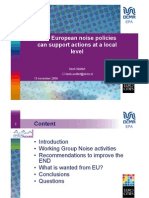 How European Policies Can Support Local Noise Policies