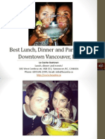 Best Lunch Dinner and Parties in Downtown Vancouver British Columbia