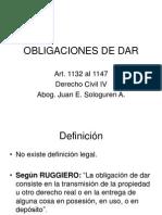 Obligaciones de Dar