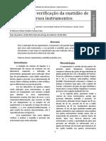 Relatório 1 - Aferição e Teste de Precisão e Exatidão de Vários Instrumentos