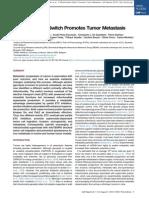 A Mitochondrial Switch Promotes Tumor Metastasis