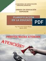 Planeacion en La Educación1