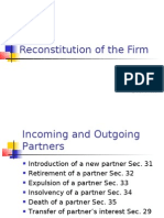 Reconstitution of the Firm