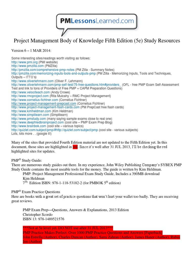 How To Pmbok 5th Edition Pdf From Pmi Site