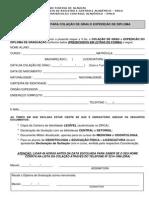 Formulário Expedicao de Diploma