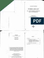 DERRIDA- Fuerza de Ley