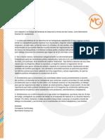 Declaracion MG situación sindicato red salud UC