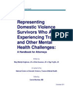 Representing Survivors Experiencing Trauma and Other Mental Health Challenges