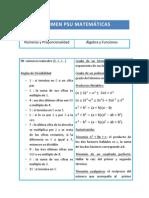 Resumen Psu Matemáticas Completo Tamaño Carta