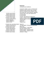 Petty Cash Fund Replenishment - January 2013
