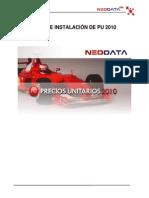 Prerequisitos e Instalación de Precios Unitarios 2011