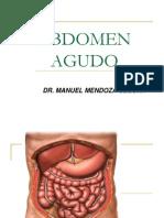 Abdomen Agudo. Dr. Mendoza.