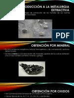 1ra Unidad Metalurgia Extractiva