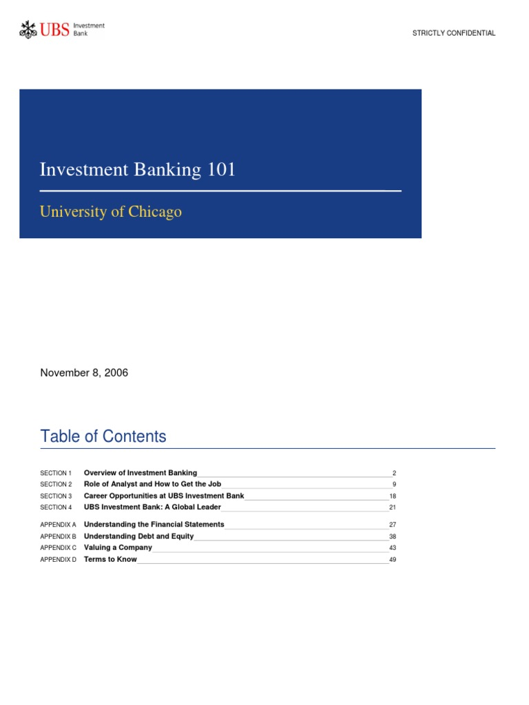 Ubs investment banking transactions meaning social investment jobs australia wide