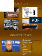 Indirect Taxes 2012 - Useful ppt