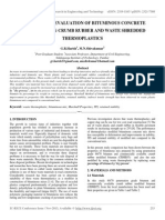 Performance Evaluation of Bituminous Concrete Incorporating Crumb Rubber and Waste Shredded Thermoplastics