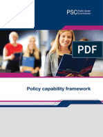 Policy Capability Framework