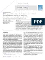 1Effect of post-weld heat treatment on the microstructure and plastic deformation behavior of friction stir welded 2024