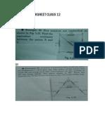Physics Worksheet 3