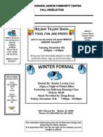 Mobile Regional Senior Community Center Schedule for December