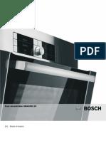 BOSCH Four encastrable HBA43B2.2F Mode d'emploi Français et autres langues