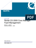 Carrier VoIP Nortel CS 2000 Core Manager Fault Management