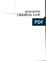 Questions Criminal Law