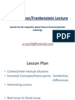 Bladerunner and Frankenstein Lecture Notes