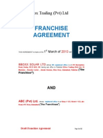 BBOXX Solar Franchise Agreement(1)