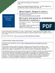 Mental Health, Religion & Culture