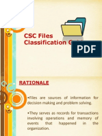 CSC Files Classification Guide