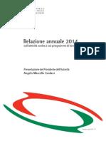 Relazione Annuale AGCOM 2014 - Presentazione Del Presidente