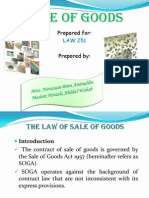 Sale of Goods (LATEST)