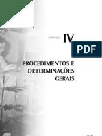 Procedimento e Determinações Gerais em Alimentos - Capitulo 4