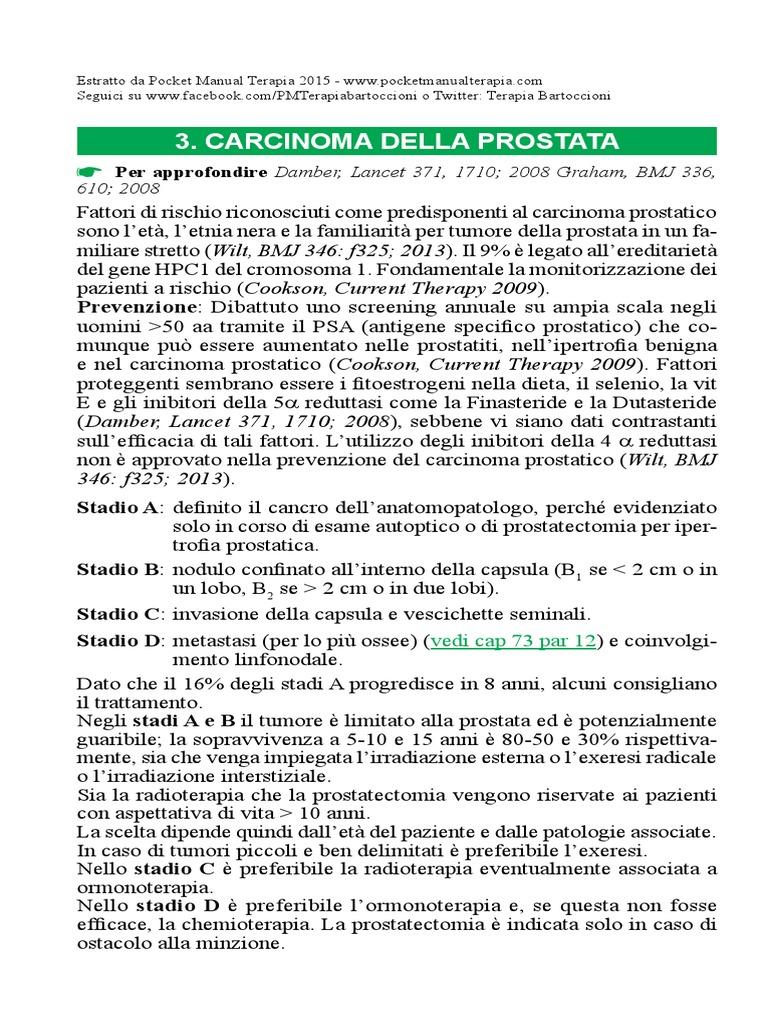 carcinoma metastatico della prostata resistente alla castrazione pdf